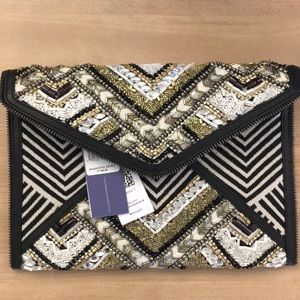Rebecca Minkoff Wonder Leo beaded clutch